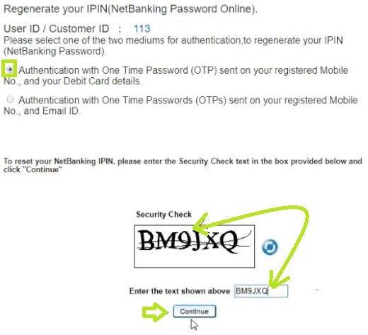 एचडीएफसी नेटबैंकिंग पासवर्ड रीसेट