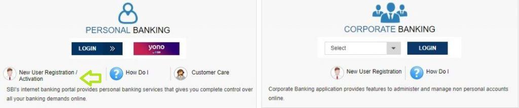 एसबीआई नेट बैंकिंग रजिस्ट्रेशन